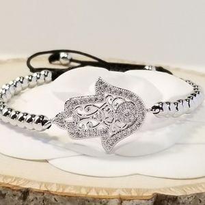 NEW Hamsa Pave CZ Bracelet